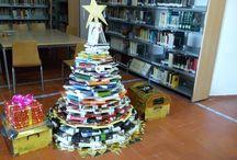 """2014-Decoración Navideña de la Red de Bibliotecas Públicas Municipales de Tocina-Los Rosales. / Decoración para la Navidad 2014 en B.P.M. """"Ramón Carande"""" de Tocina y B.P.M. """"Anexo"""" de Los Rosales."""