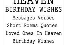 Heaven Birthday Wishes