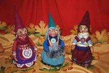 Personajes del bosque, hecho a mano por mi / Personajes de fantasía celta y vikinga