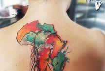 Татуировки на тему африки