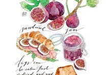 ilustraciones comidas