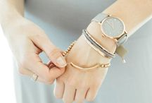Bracelet with a Tie / Wear now your hair tie fashionably.  http://www.amazon.com/s/ref=bl_sr_beauty?ie=UTF8&field-brandtextbin=Delicate+Caress+Cosmetics&node=3760911