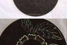 dischi vinile dipinti
