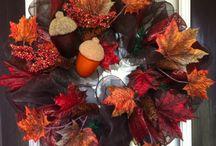 ThanksGiving Wreaths, Garlands, and Door Hangings / by Edwina Dickert
