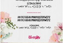 Favorite Fonts / Free and paid fonts we love!  The best collection of fonts including script fonts, sans, serif, cute fonts, fonts with glyphs, personal use fonts and commercial use fonts.