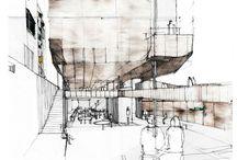 Architectural Render- hand drawn