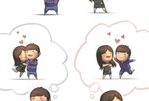 caricaturas love