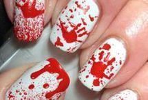 nail art halloween / superrrrr nail art