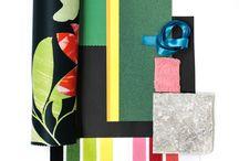 Wilson Fabrics Moodboards / textiles, flatlay, moodboard, fabric