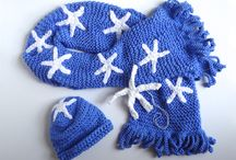 Carolina Blue Mom & Baby Scarffish Set / Get the new mom in your life a cozy scarf and a baby beanie for her new bundle of joy!