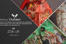 Chanderi Digital Print Sarees