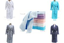 BATHROBES & TOWELS / %100 COTTON HIGH ABSORBENT BATHROBES AND TOWELS