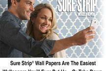 Sure Strip Wallpapers / Easy up and Easy down. Guaranteed.  Made in USA by York Wallcoverings
