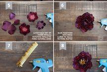Papírové květiny - návody