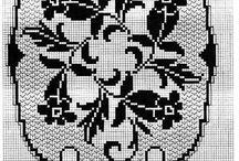 Gráficos de croche ,caminhos de mesa , centros e toalhas