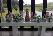 Strawberry Events Candy Stations / A place to fulfil your sweet tooth. No need for the traditional wedding cake anymore :)