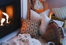 Hygge / Hygge is the Danish concept of embracing life's simple pleasures. Candles, hot chocolate, keeping cosy, log fires, throws..... (pleasures found at Spring Cottage!)