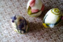 ovos da pascoa /  nadel felt-feltragem com agulha