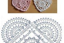 Corazones al crochet