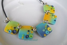 Clay Jewelry 2 / I simply love working with clay and is how  I spend my winters. / by Rebecca Edwards
