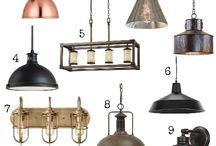 loft/industrial oswietlenie, wnetrze