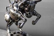 Esculturas metalicas / Metal