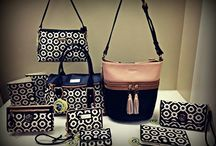 Spartina  449 / Variety of handbags made in linen fabric which provides a perfect canvas for unique and vibrant colors.  Also a colorful assortment of all leather purses, wallets and wristlets.