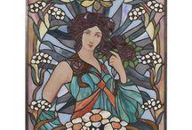 Tiffany Raampanelen / Tiffany Glass Panels