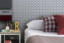 Geométricos - Stencils decorativos para parede