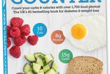 Carbs & Cals 6th Edition / Our new edition has updated nutritional values and new tables showing values per 100g for selected foods.  This board will showcase the new book.
