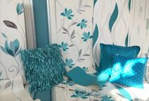 Teal Appeal! / For the love of teal! Here is a selection of beautiful teal, white and silver products that are available to #DressYourWalls with from our online store www.homeflairdecor.co.uk