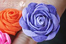 Fabric flowers / by mchats