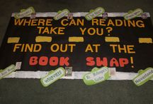 Book Swap - Spring 2015 / Ideas and decorations used during our Spring Book Swap.  This is always a big hit with kids.  They bring in books and at the end of the week get to pick books from the tables to take home.