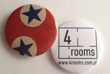 Pins, buttons