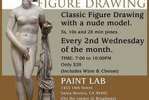 Gallery Girls at Paint:LAB / Join the Gallery Girls every *** 2nd Wednesday of every month*** for classic figure drawing. Nude Long Pose.  TIME: 7:00 to 10:00PM COST: Only $20 PAINT:LAB 1453 14th Street (on the corner @ Broadway) Santa Monica, CA 90405