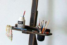 Ateliers d'Artistes / Intérieurs - Matériels & Accessoires  miniatures pour maisons de poupées au 1/12ème