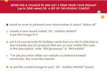 EC: Holiday Wishlist  / by Emily Siegel