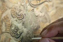 Antque painting lace