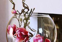 Květy ve skle