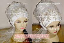 elegance bridal hijab