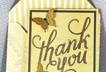Thank You Card Ideas / A variety of Thank You Cards, most go together very quickly, because you may not have them when you need them!  I speak from personal experience!!
