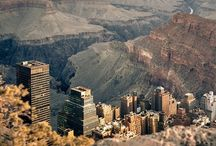 Manhattan Dropped Into the Grand Canyon / by Peter Schorsch