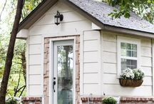 She Sheds / Looking for a place away from home, but still in your backyard? A great group of pins for she sheds that you can create.   #sheshed #sheshed