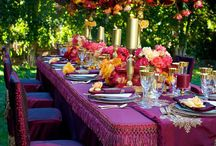 Colorful table settings