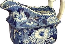 Antique Blue and White China.