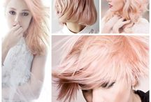 icy blond and rose…