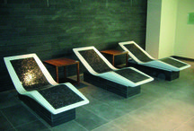 Heated Loungers / After leaving the sauna or steam room and taking an icy cold shower to cool down, there is nothing more pleasurable than sitting back and relaxing on a Klafs Heated Lounger.