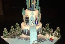 Frozen Sports Cake / Frozen Cake, frozen sports party