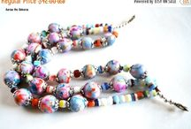 Blue Morning Expressions Necklaces / Handmade beaded necklaces