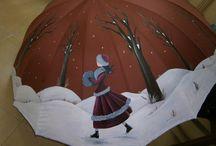 Paraguas para pintar